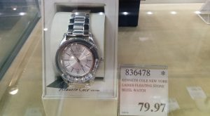 Kenneth Cole Ladies Floating Stone Bezel Watch