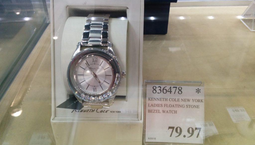 Kenneth Cole Ladies Floating Stone Bezel Watch