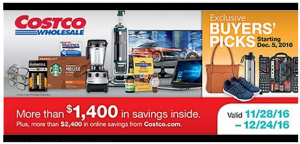 Costco December 2016 Coupon Book