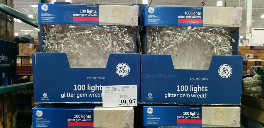GE Glitter GEM Wreath 754416