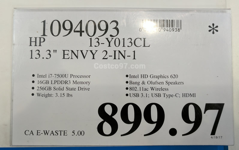 HP Envy 13Y013CL - 1094093