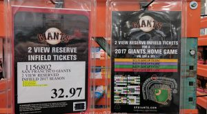 SF Giants Reserved Infield Seats - 1156802