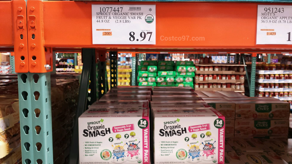 Sprout Organic Smash Fruit Veggie Snack - 1077447