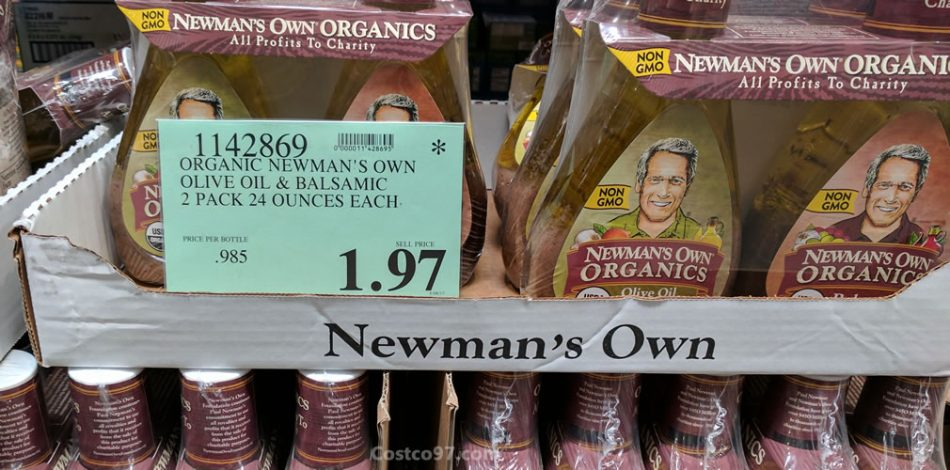 organic newmans own olive oil & balsamic - 1142869