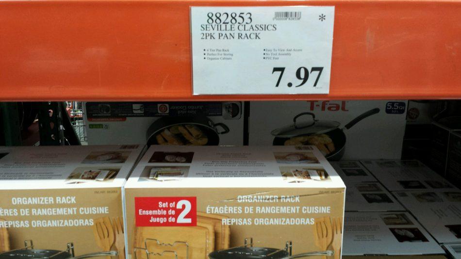Seville Classics 2pk PanRack - 882853