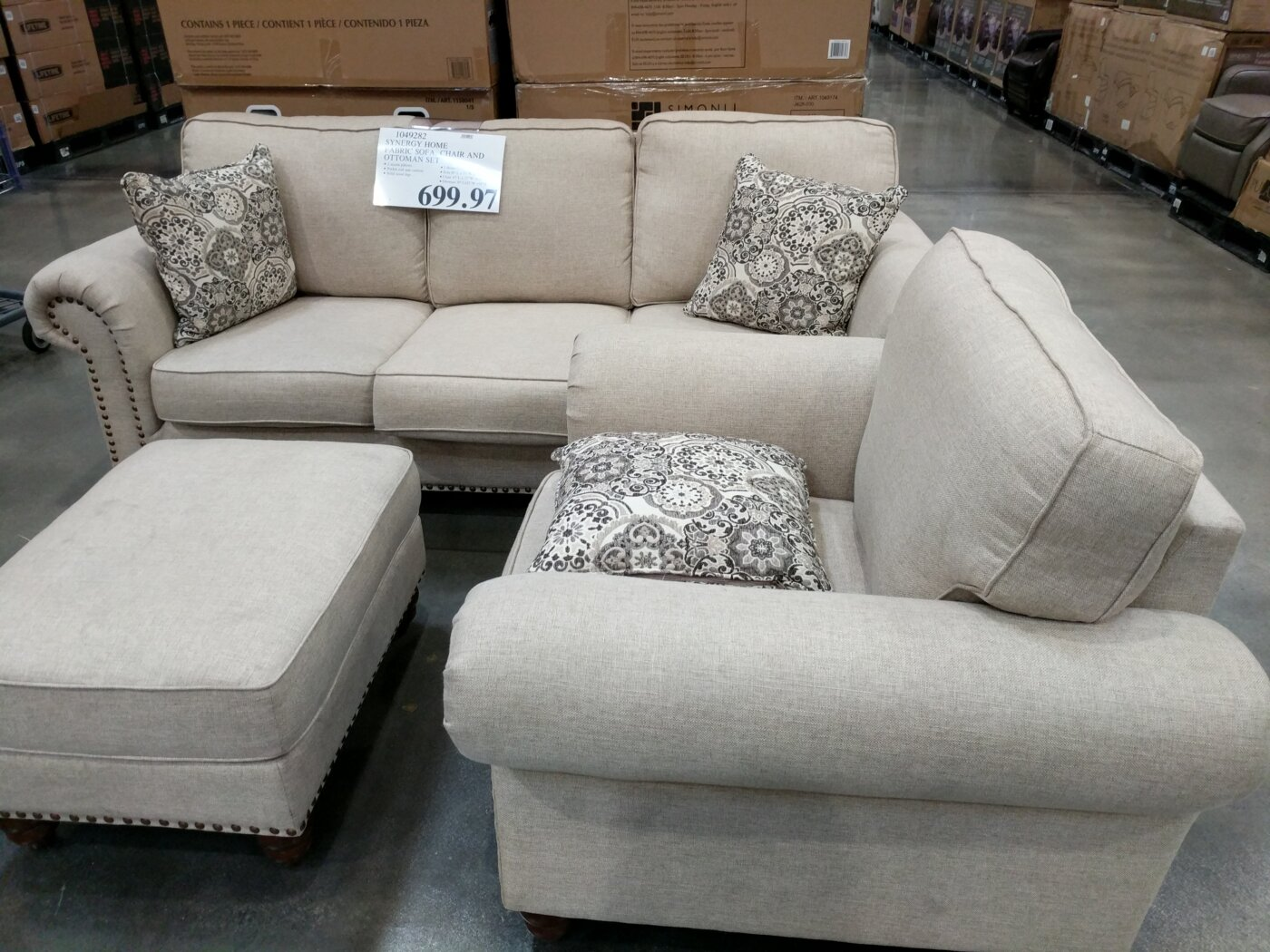 couch and ottoman set