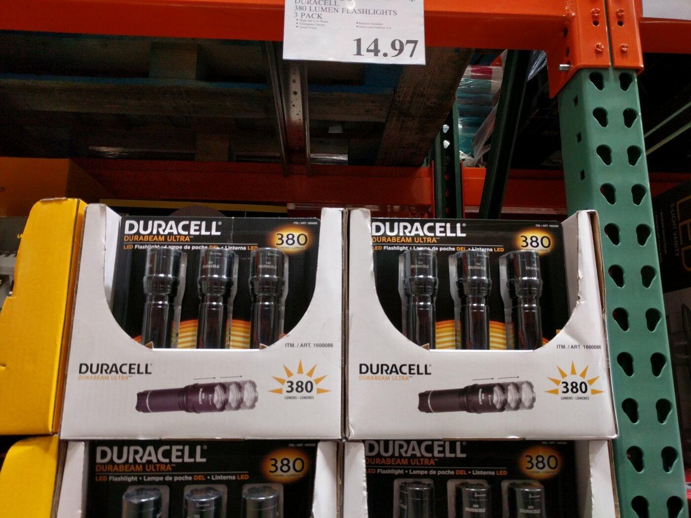 Lumen Duracell 3 Flashlights 380 Pack Led EHWD9I2