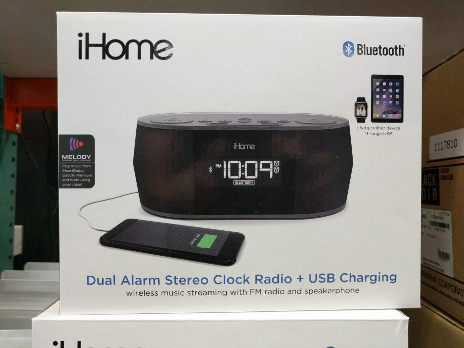 iHome Bluetooth Stereo Clock Radio | Costco97 com