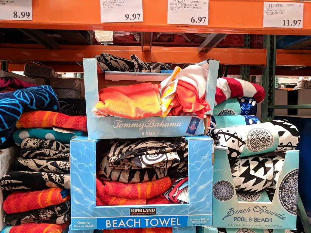 kirkland signature jacquard beach towel