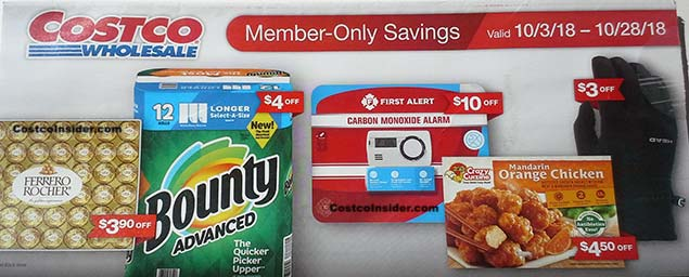 October 2018 Costco Coupon Book