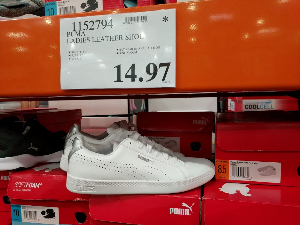 Puma Ladies Leather Shoe | Costco97.com