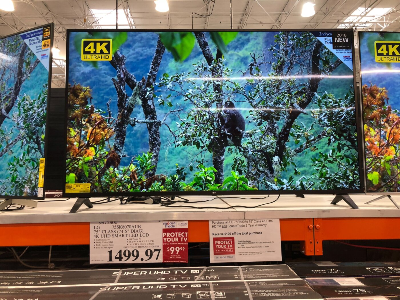LG 75 Inch 4K LCD LED TV - 9975800