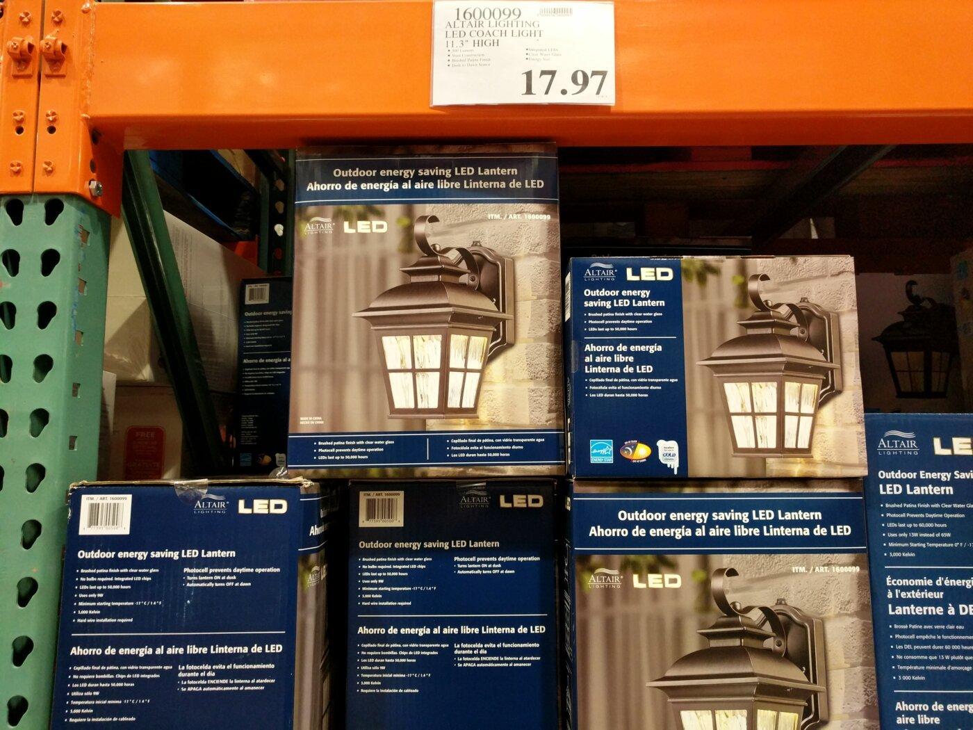 Image of: Altair Lighting Led Coach Light Costco97 Com
