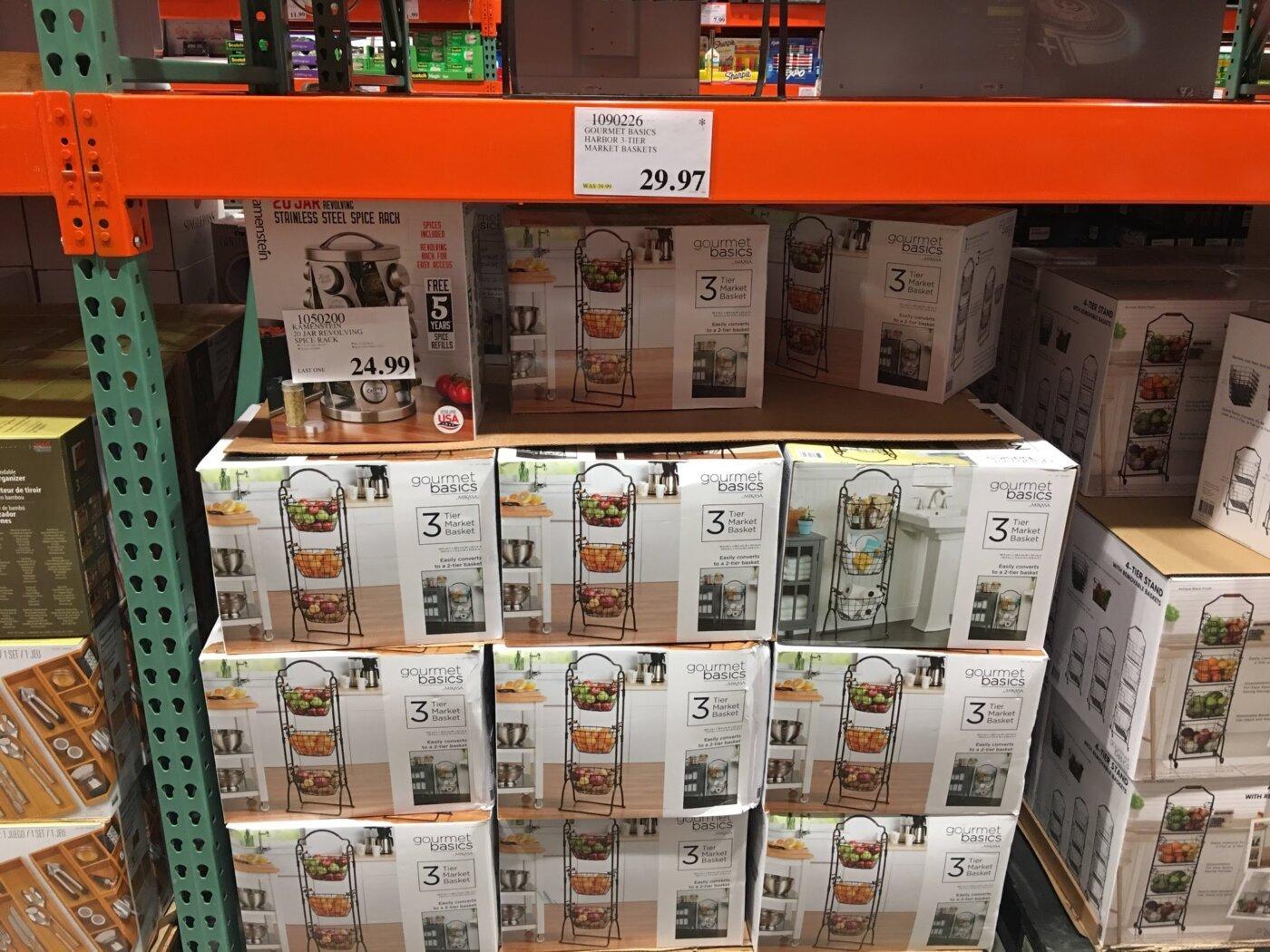 Gourmet Basics Harbor 3Tier Market Baskets - 1090226