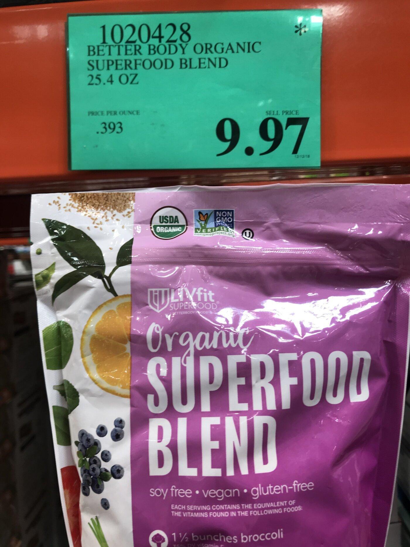 Better Body LIVfit Organic Superfood