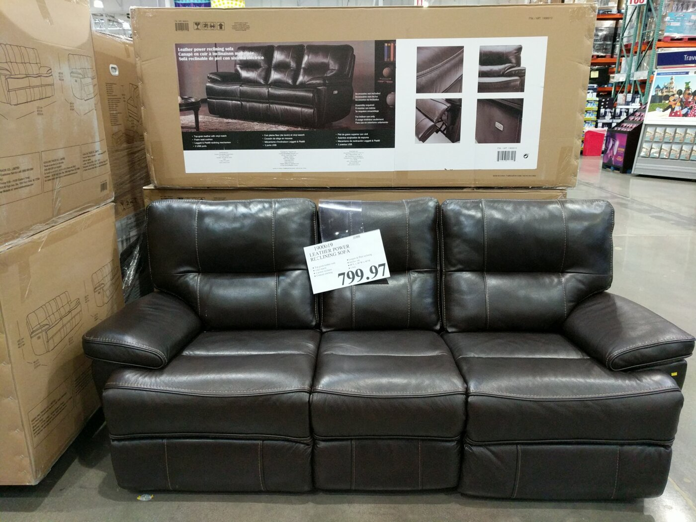 Wondrous Leather Power Reclining Sofa Costco97 Com Gamerscity Chair Design For Home Gamerscityorg