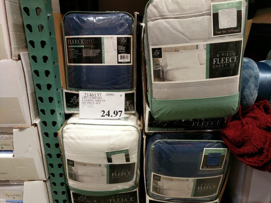 Life Comfort Calking Fleece Sheet Set Costco97 Com