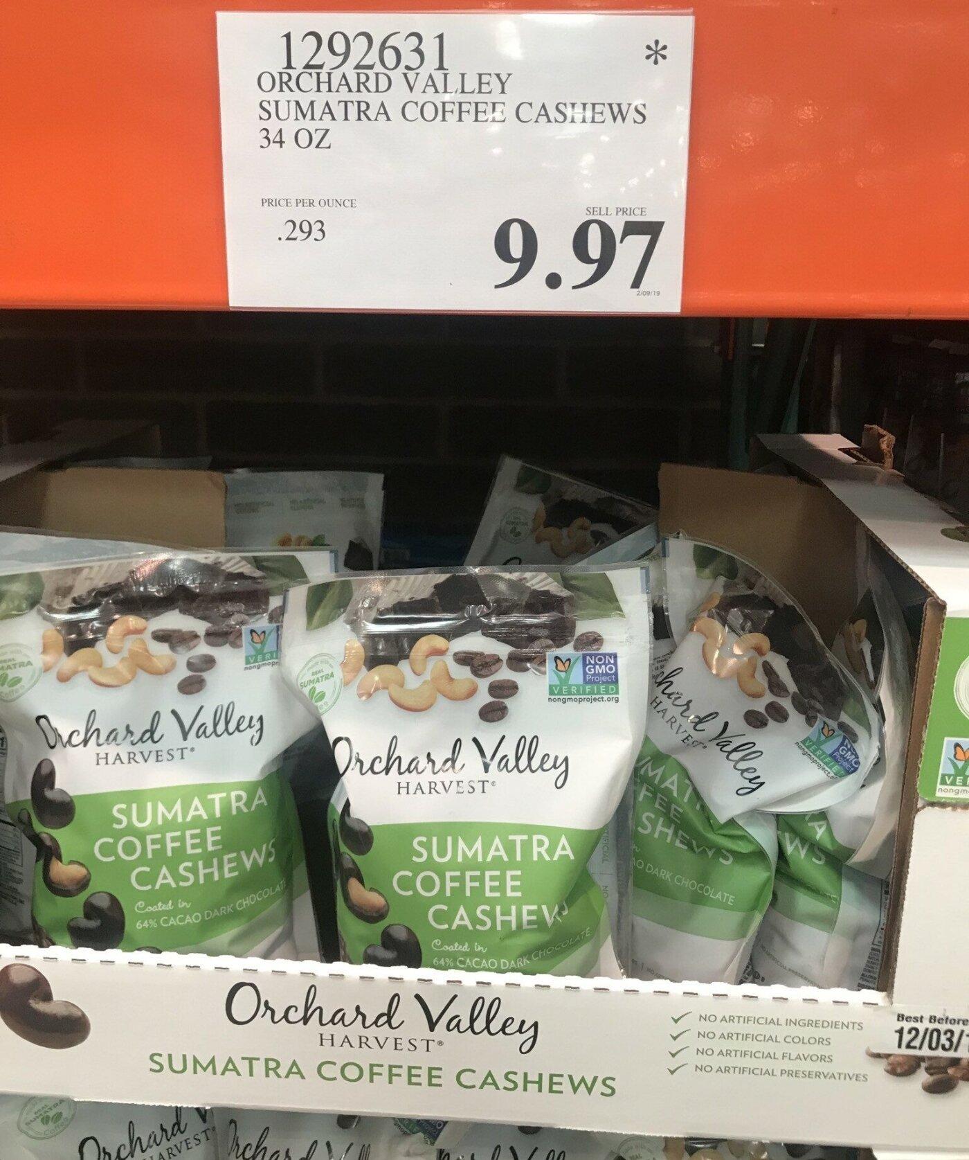 Orchard Valley Sumatra Coffee Cashews