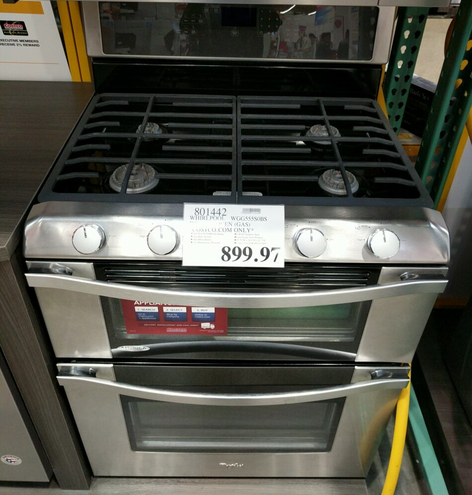 Whirlpool Double Oven WGG555S0BS