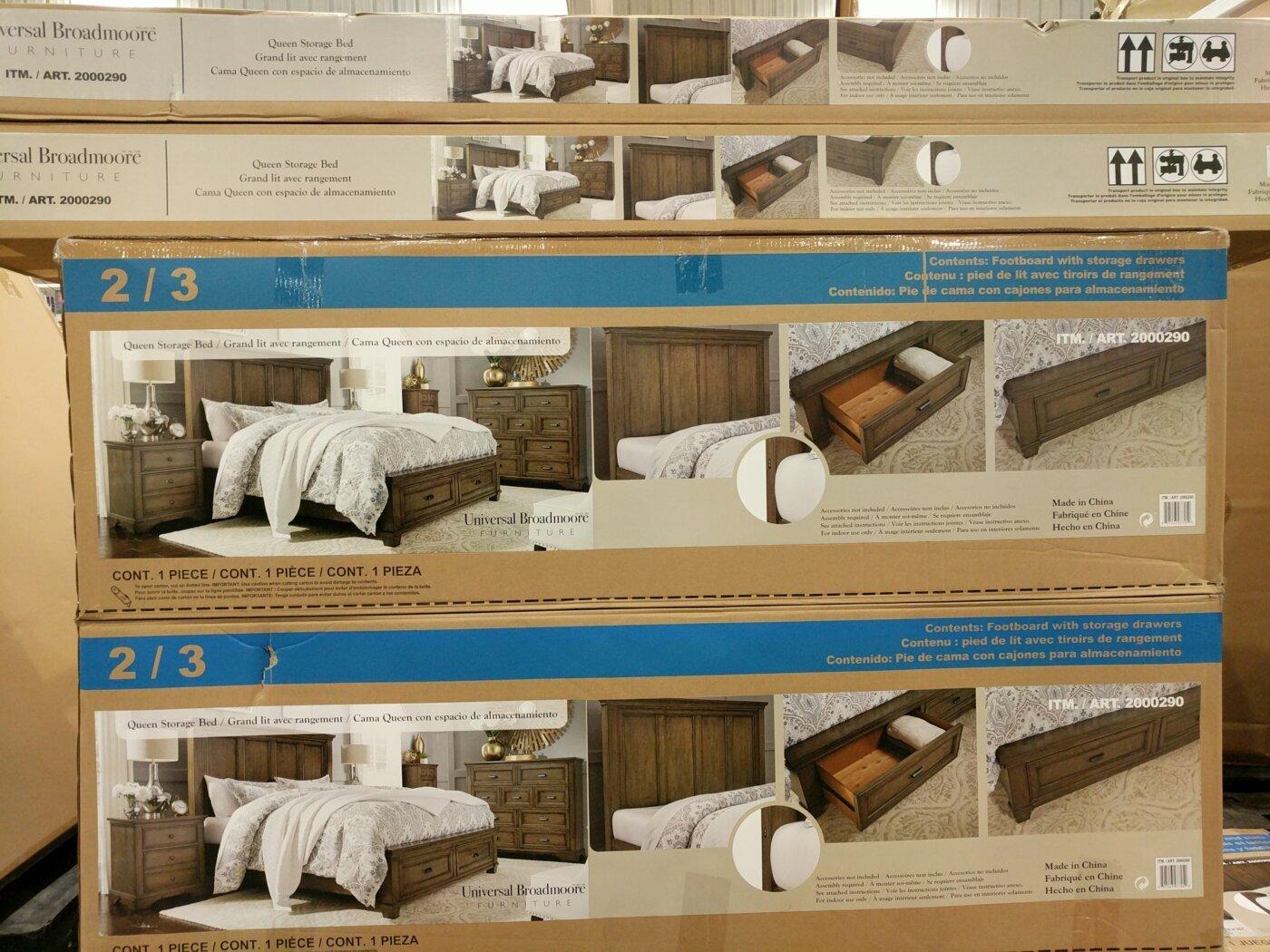 Universal Broadmoore Queen Storage Bed Costco97 Com