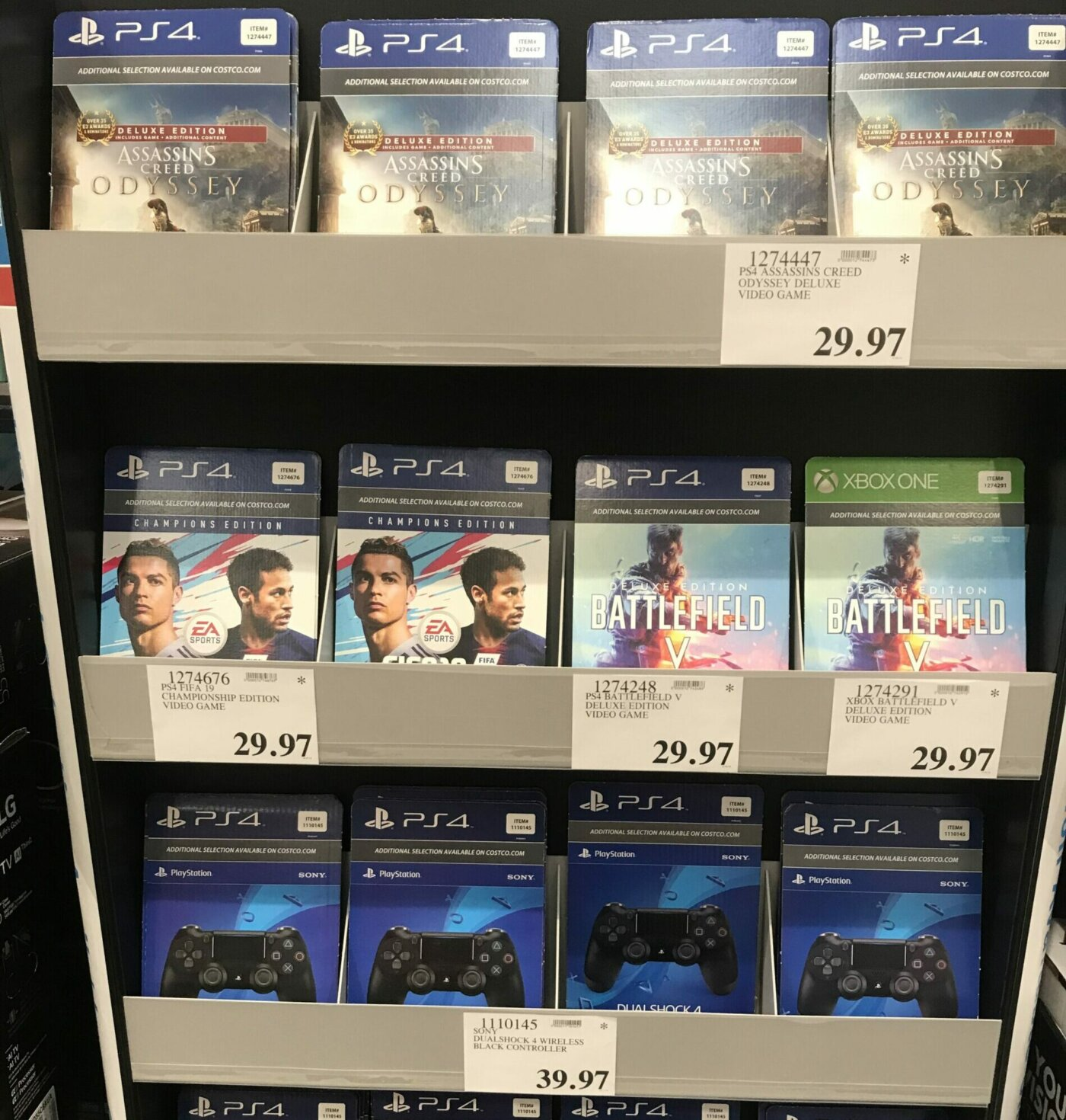 Costco PS4 and XBox Games and Controllers Clearance